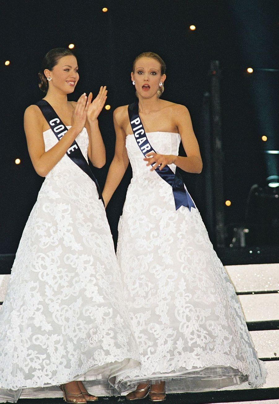 Elodie Gossuin lors de l'élection Miss France à Monte-Carlo le 9 décembre 2000