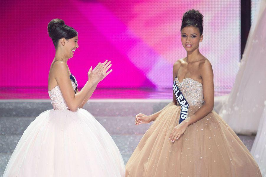 Flora Coquerel lors de l'élection de Miss France 2014 à Dijon le 7 décembre 2013