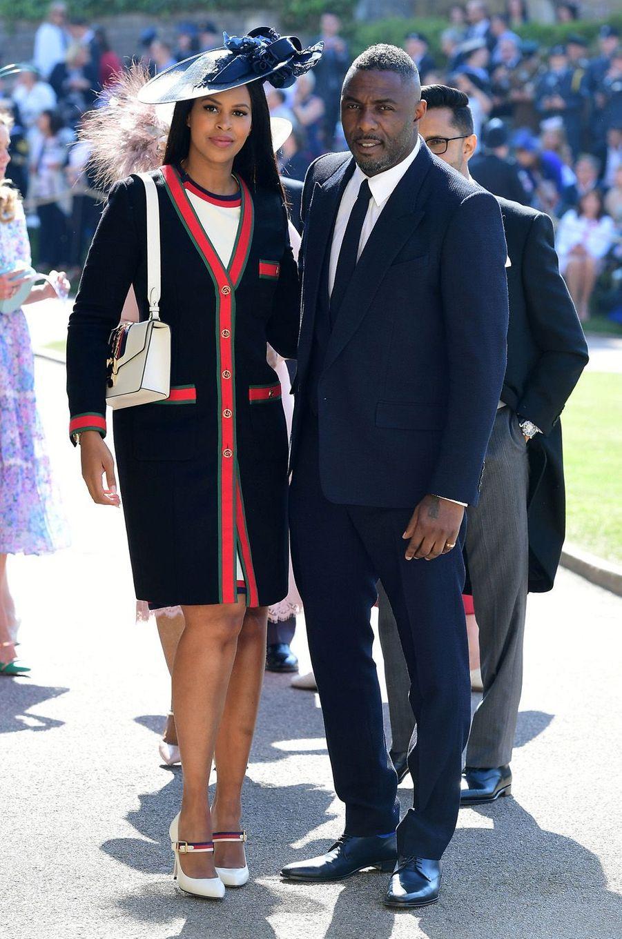Idris Elba et son épouse Sabrina au mariage de Meghan et Harry, le 19 mai 2018.
