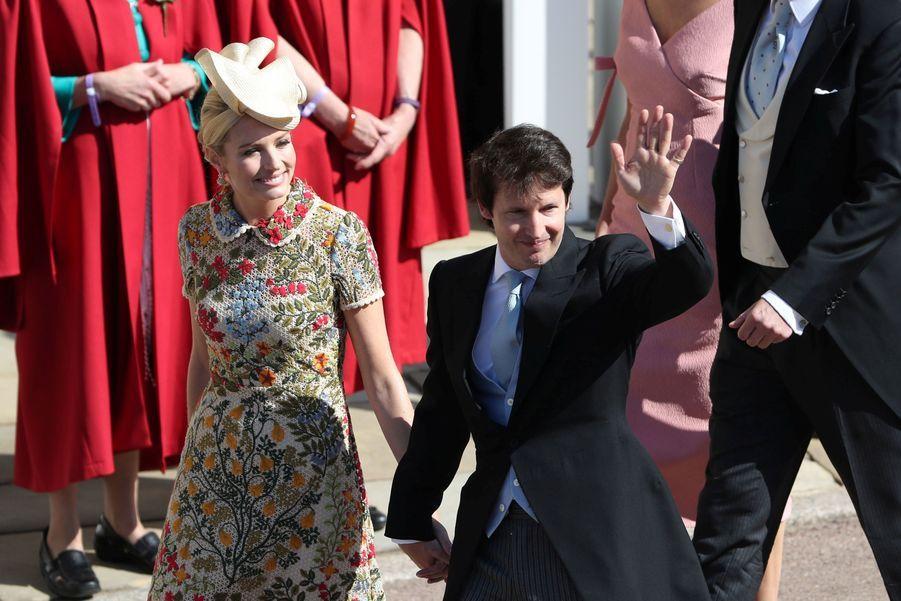 James Blunt et sa femme Sofia au mariage de Meghan et Harry, le 19 mai 2018.