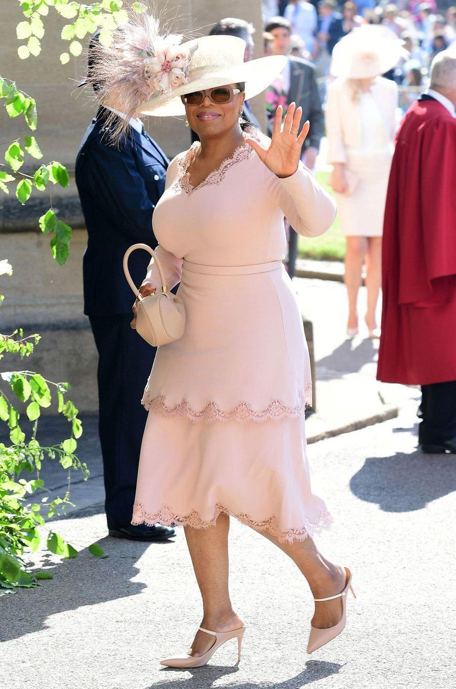 Oprah Winfrey au mariage de Meghan et Harry, le 19 mai 2018.