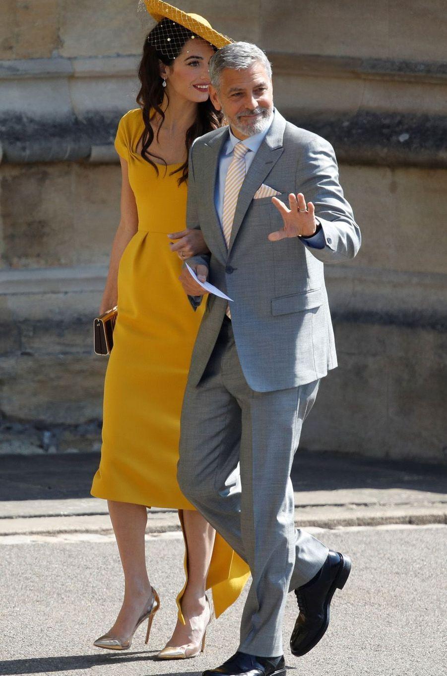 Amal et George Clooney au mariage de Meghan et Harry, le 19 mai 2018.