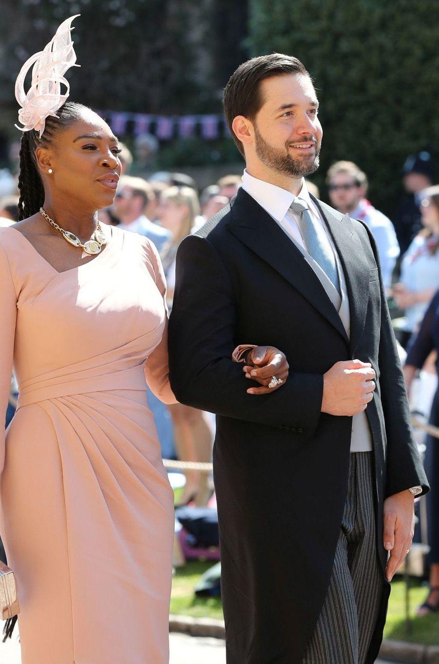 Serena Williams et Alexis Ohanian au mariage de Meghan et Harry, le 19 mai 2018.