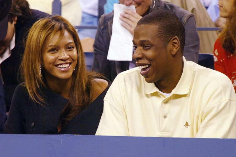 Jay-Z et Beyoncé à l'US Open à New York en septembre 2003
