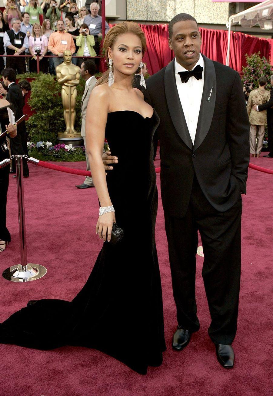 Jay-Z et Beyoncé lors des Oscars en février 2005 à Los Angeles