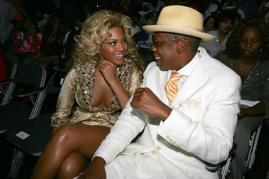 Jay-Z et Beyoncé aux MTV Video Music Awards en août 2004 à Miami