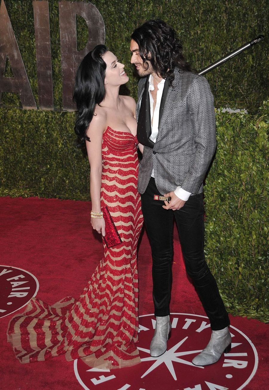 Katy Perry et Russell Brand à l'after-party des Oscars à Hollywood en mars 2010