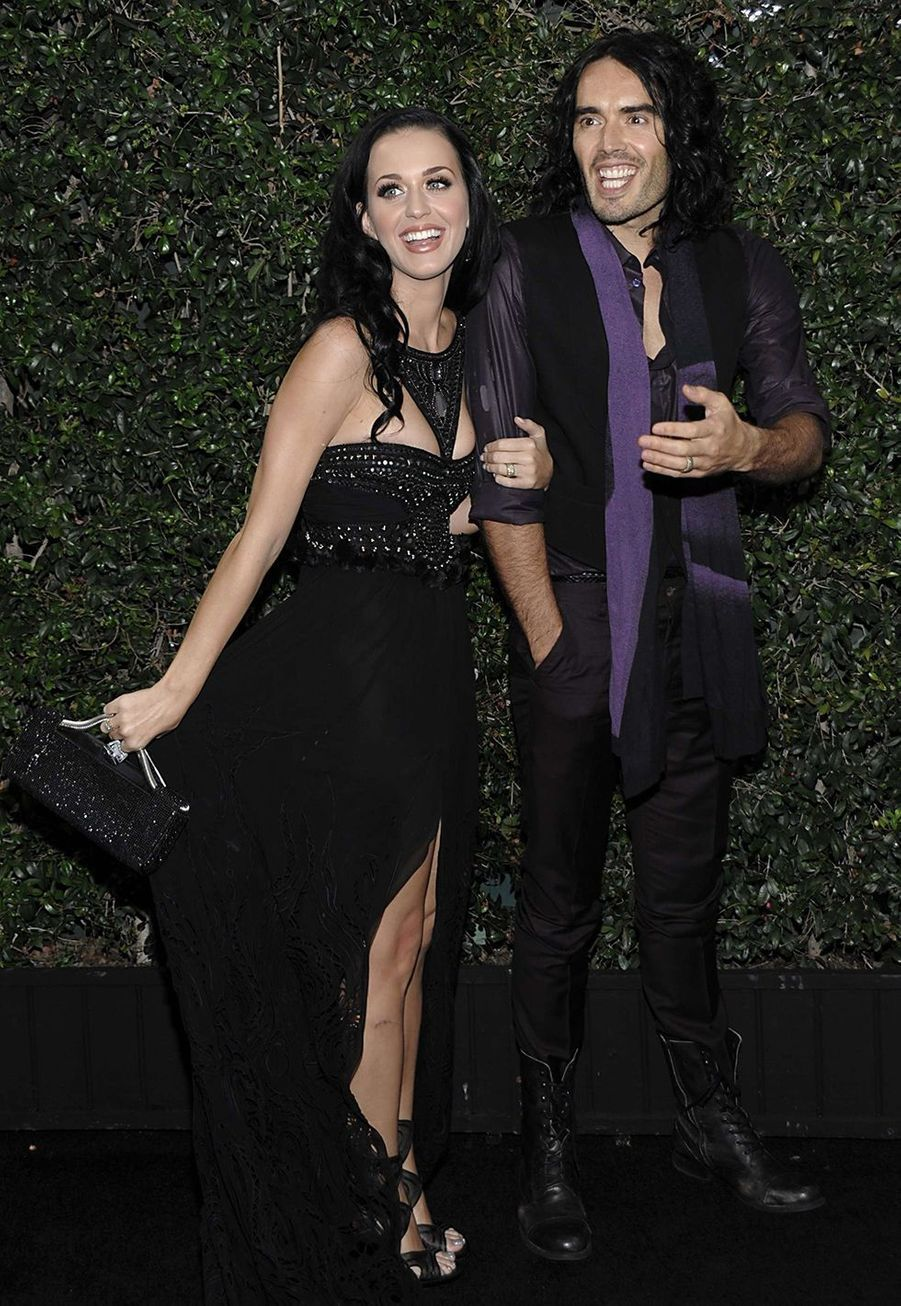 Katy Perry et Russell Brand à l'after-party des American Music Awards à Los Angeles en novembre 2010