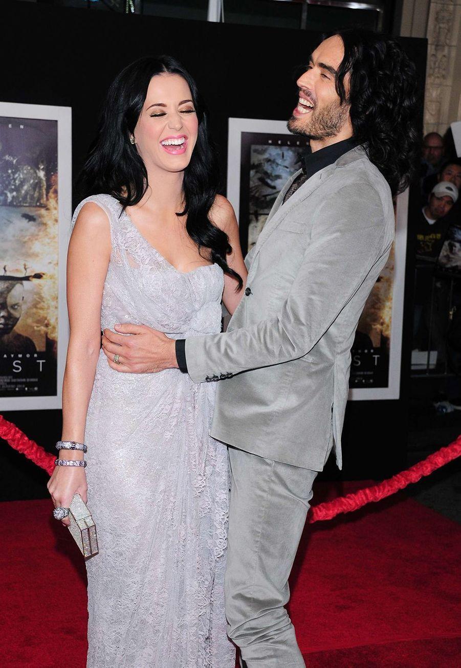 Katy Perry et Russell Brand à l'avant-première du film «La Tempête» à Hollywood en décembre 2010