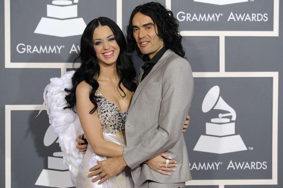 Katy Perry et Russell Brand aux Grammy Awards à Los Angeles en février 2011