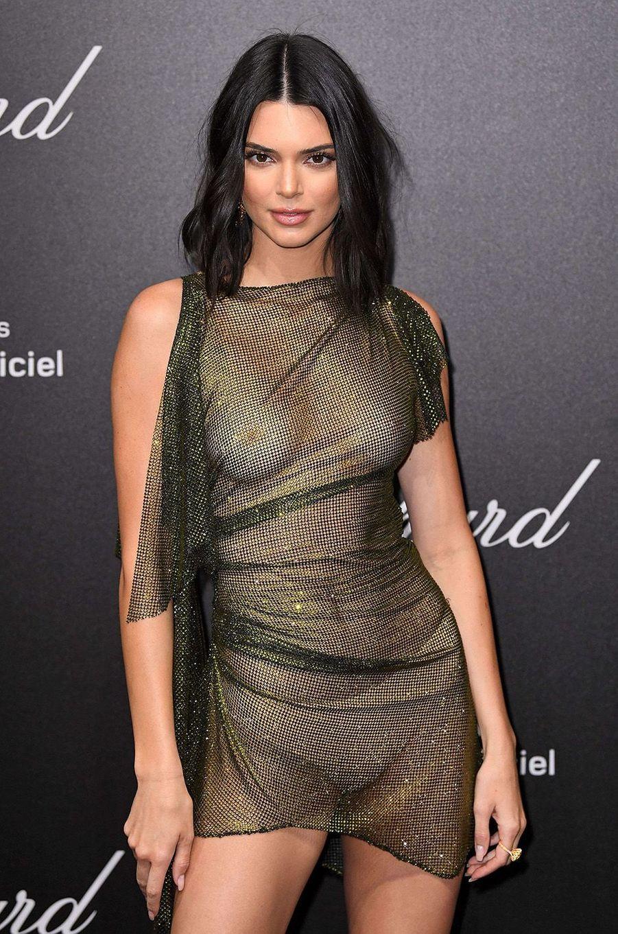 Kendall Jenner à la soirée Chopard, le 11 mai 2018.