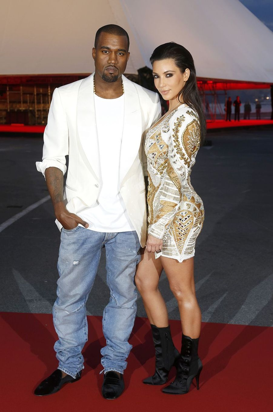 Kim Kardashian et Kanye West à Cannes en mai 2012