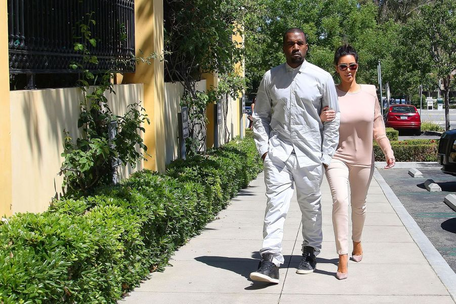 Kim Kardashian et Kanye West à Los Angeles en juin 2012