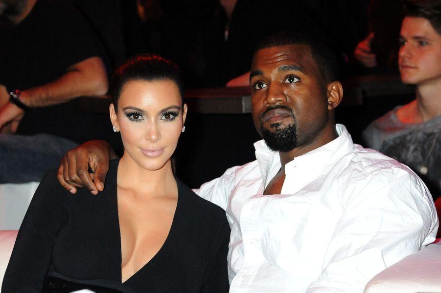 Kim Kardashian et Kanye West aux MTV EMA's à Francfort en novembre 2012