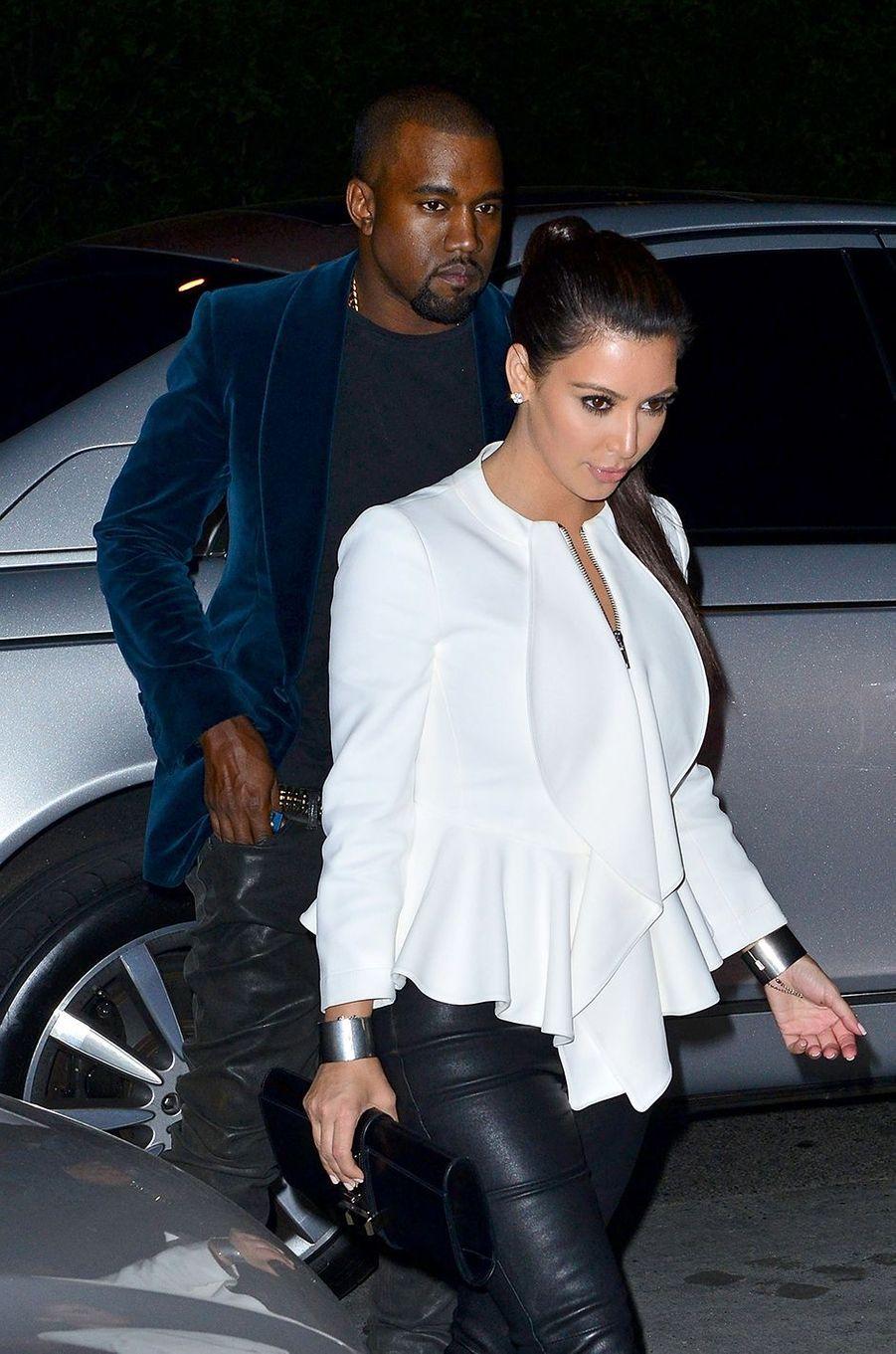 Kim Kardashian et Kanye West à New York en avril 2012