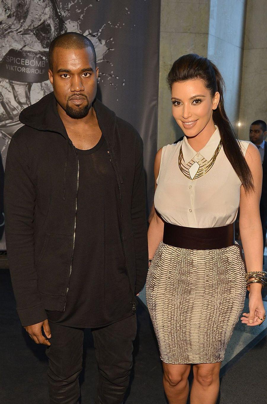 Kim Kardashian et Kanye West à Toronto en mai 2012