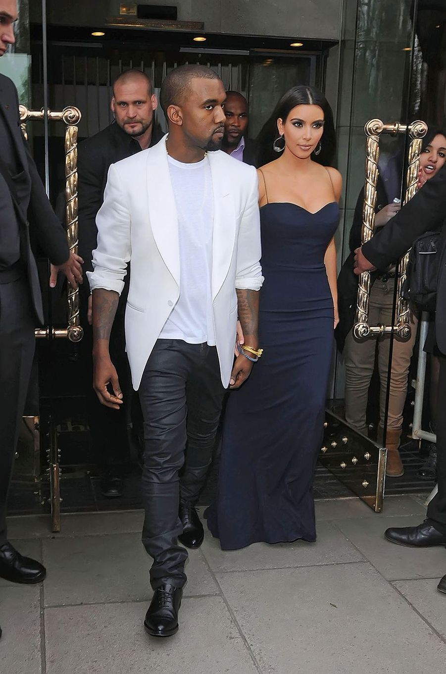 Kim Kardashian et Kanye West à Londres en mai 2012