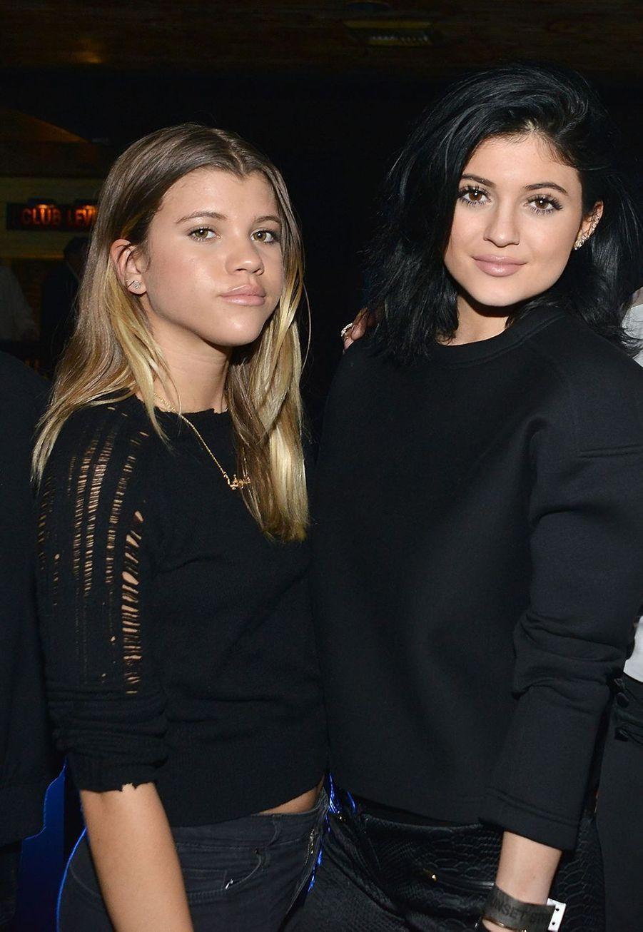 Sofia Richie et Kylie Jenner lors d'une soirée à Los Angeles en août 2014