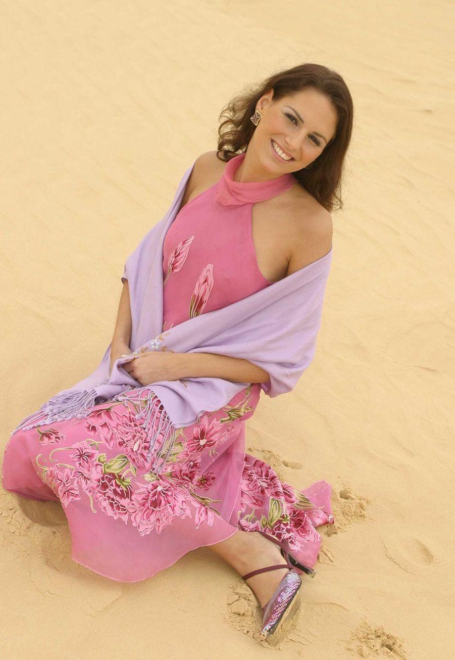 Lætitia Bléger lors du voyage de préparation au concours Miss France en Tunisie en 2003