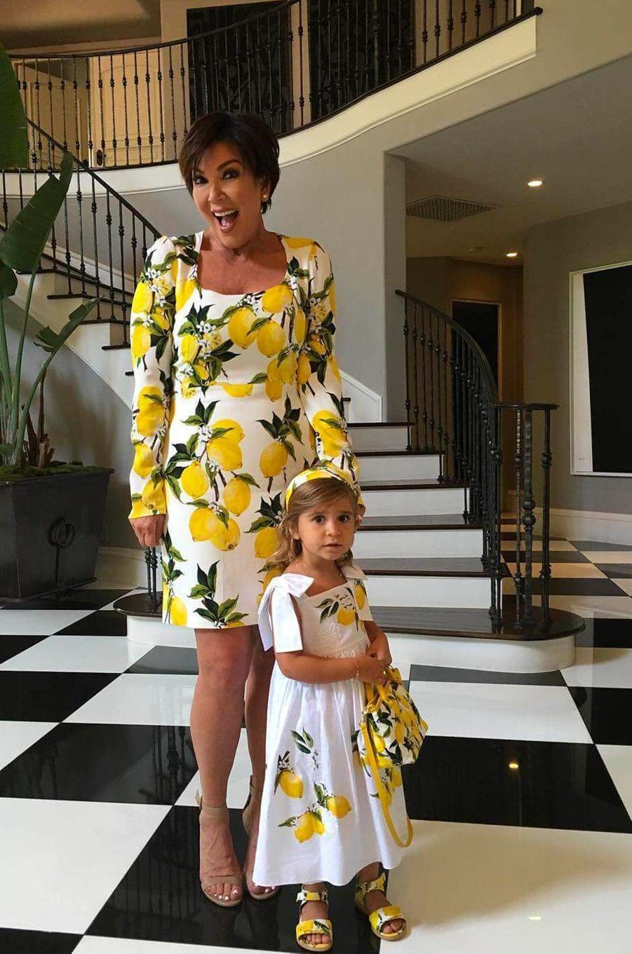Kris Jenner et sa petite-fille Penelope Disick