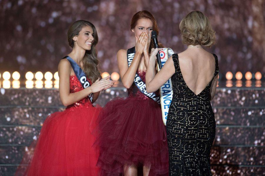 Maëva Couckeest sacrée Miss France 2018 à Châteauroux le 16 décembre 2017