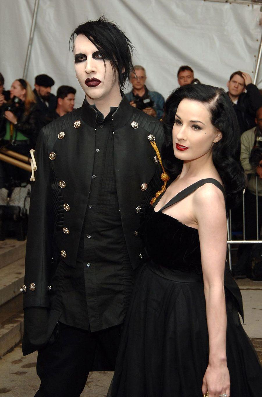 Marilyn Manson et Dita Von Teese au Met Gala à New York en mai 2005