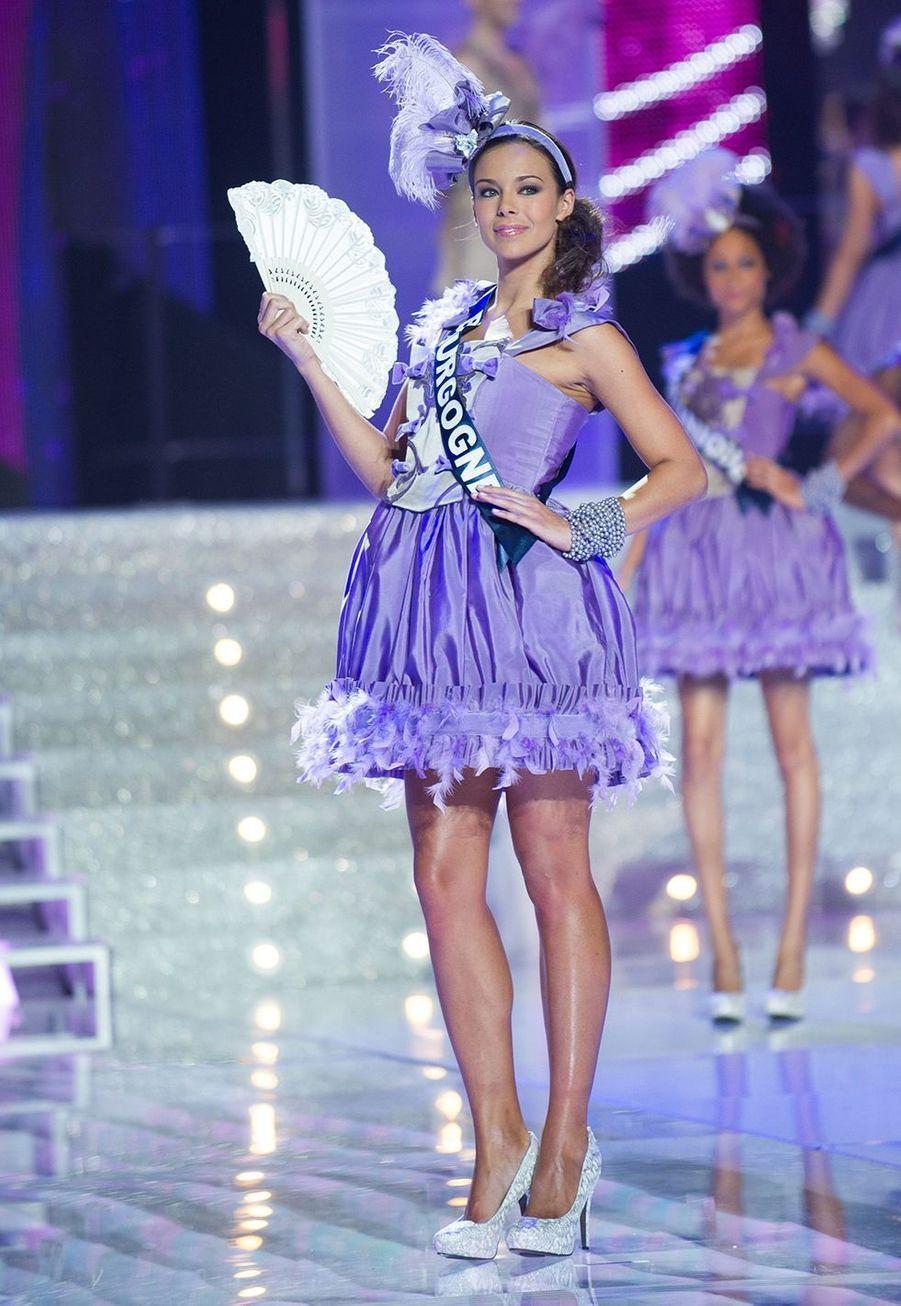 Marine Lorphelin lors de l'élection de Miss France 2013 à Limoges le 8 décembre 2012