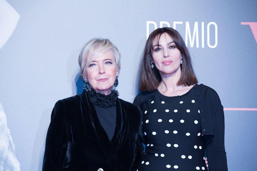 Monica Bellucci et Piera Detassis à Rome, le 7 novembre 2017.