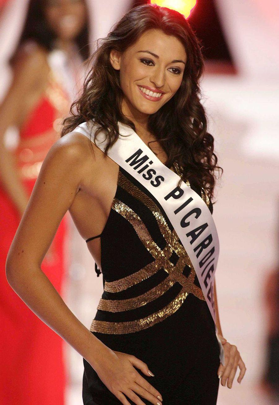 Rachel Legrain-Trapani (Miss Picardie) le soir de l'élection de Miss France 2007 auPalais des congrès du Futuroscope le 9 décembre 2006
