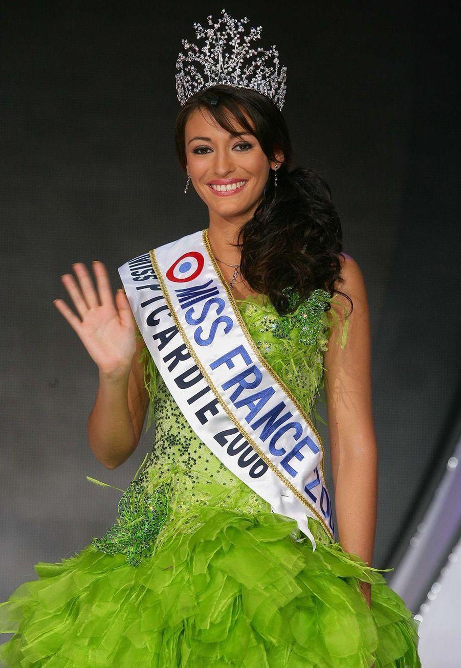 Rachel Legrain-Trapani, Miss France 2007,le soirde son électionauPalais des congrès du Futuroscope le 9 décembre 2006