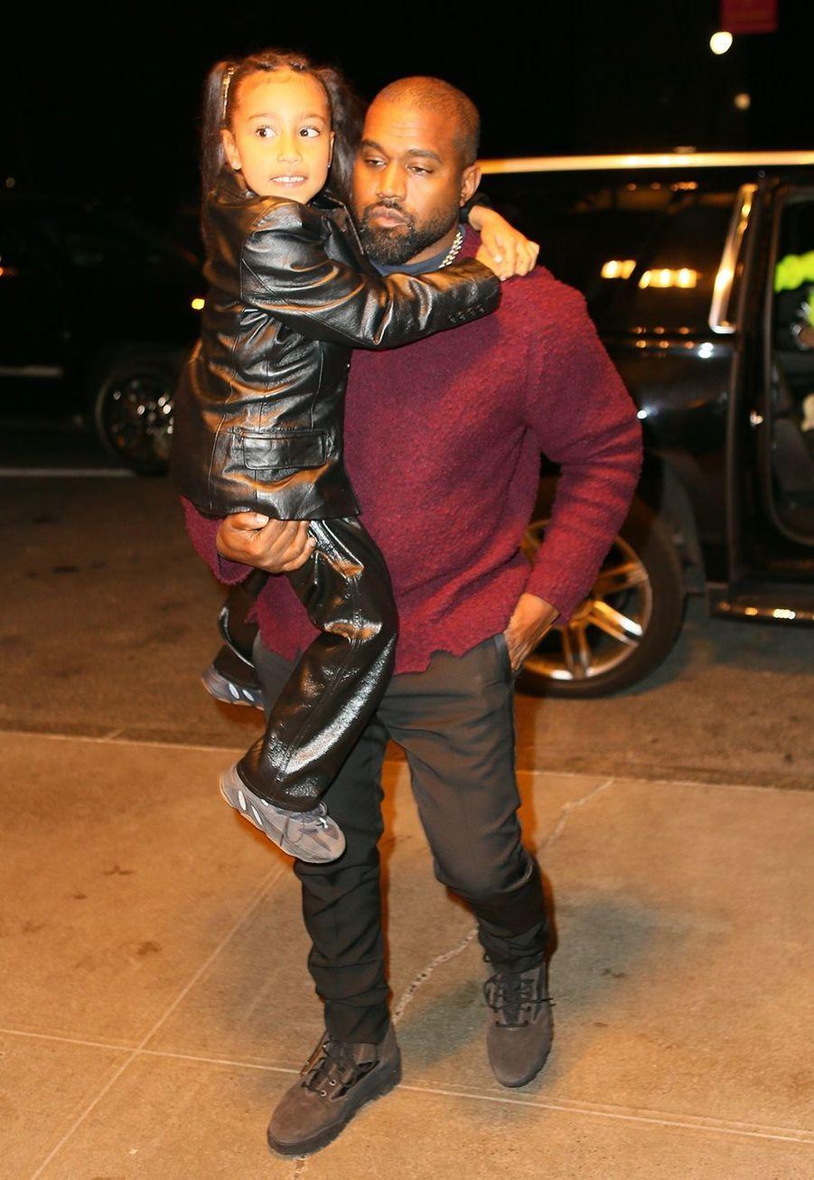 North et Kanye Westà New York le 22 décembre 2019