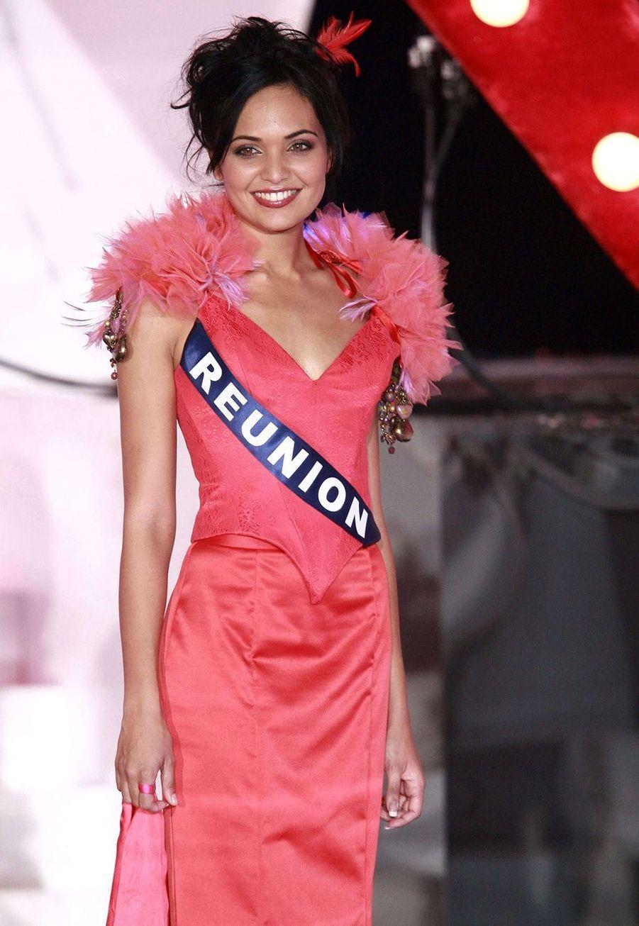 Valérie Bègue lors de l'élection de Miss France 2008à Dunkerque le 8 décembre 2007