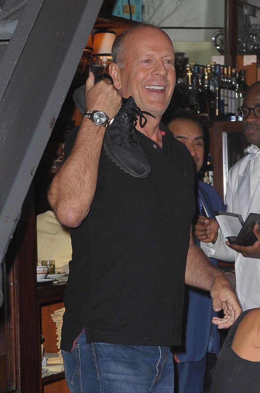 Bruce Willislors de la fête de fiançailles de Quentin Tarantino et Daniella Pick, le 23 septembre 2017 à New York.