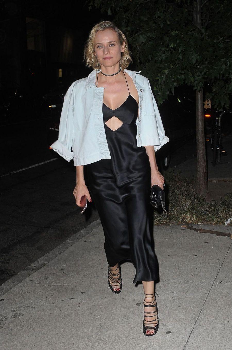 Diane Krugerlors de la fête de fiançailles de Quentin Tarantino et Daniella Pick, le 23 septembre 2017 à New York.