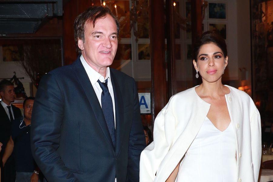 Quentin Tarantino et Daniella Pick à leur fête de fiançailles, le 23 septembre 2017 à New York.