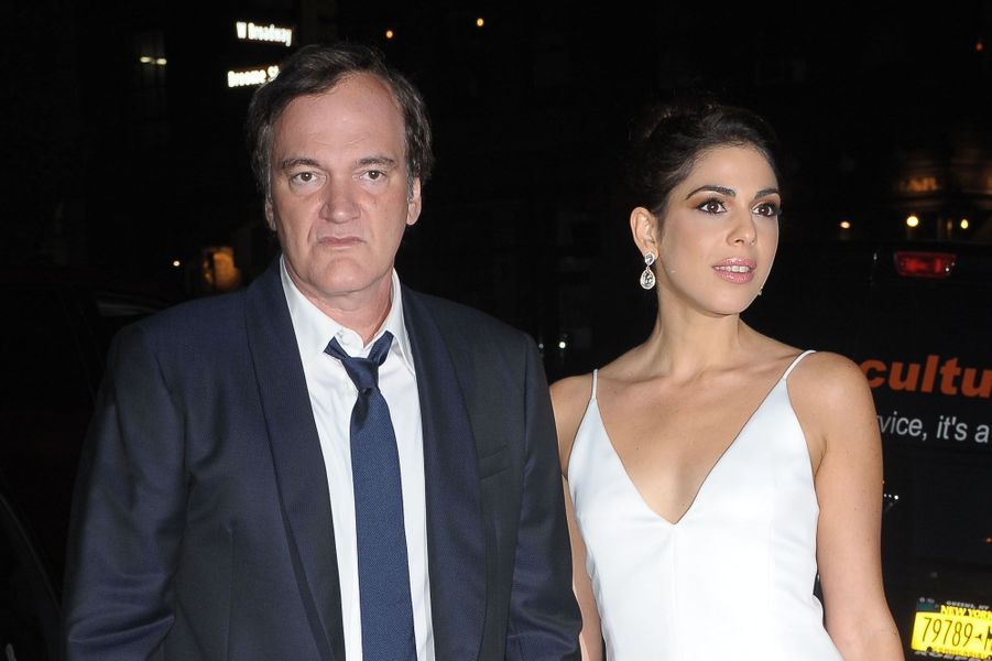 Quentin Tarantino et Daniella Picklors de leur fête de fiançailles, le 23 septembre 2017 à New York.