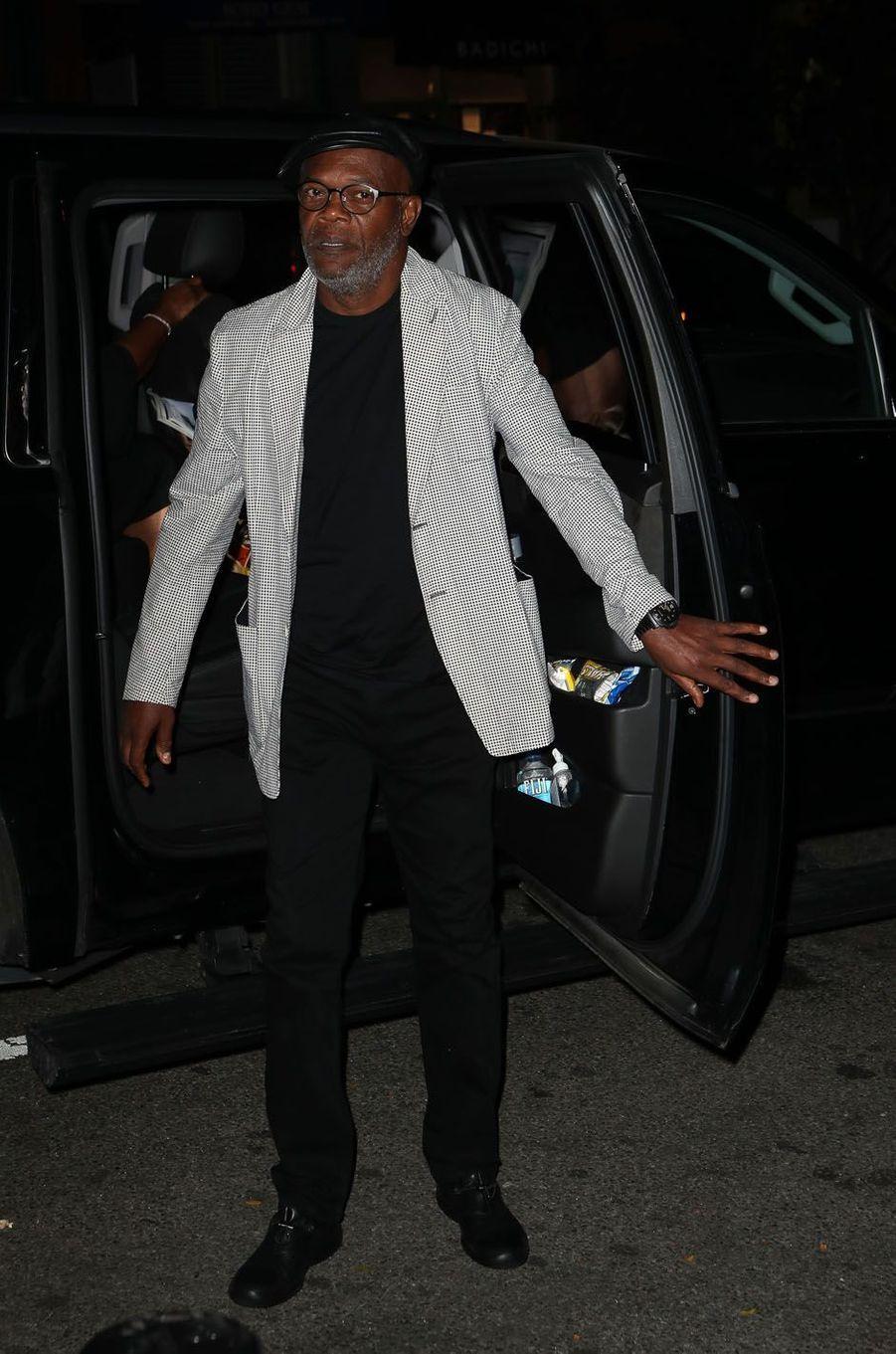 Samuel L. Jacksonlors de la fête de fiançailles de Quentin Tarantino et Daniella Pick, le 23 septembre 2017 à New York.