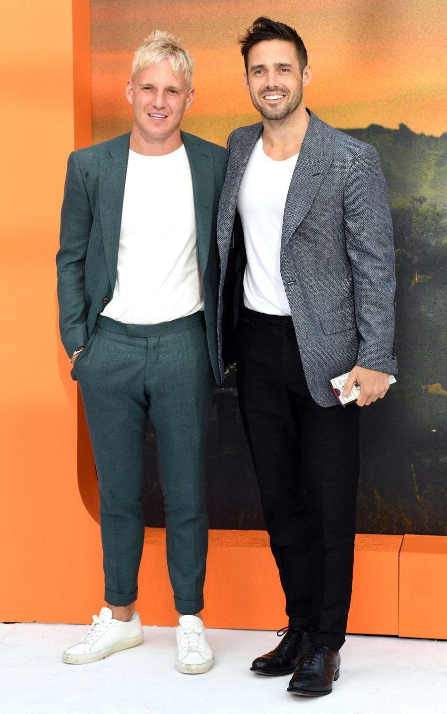 Jamie Laing et Spencer Matthewsà Londres, le 30 juillet 2019.