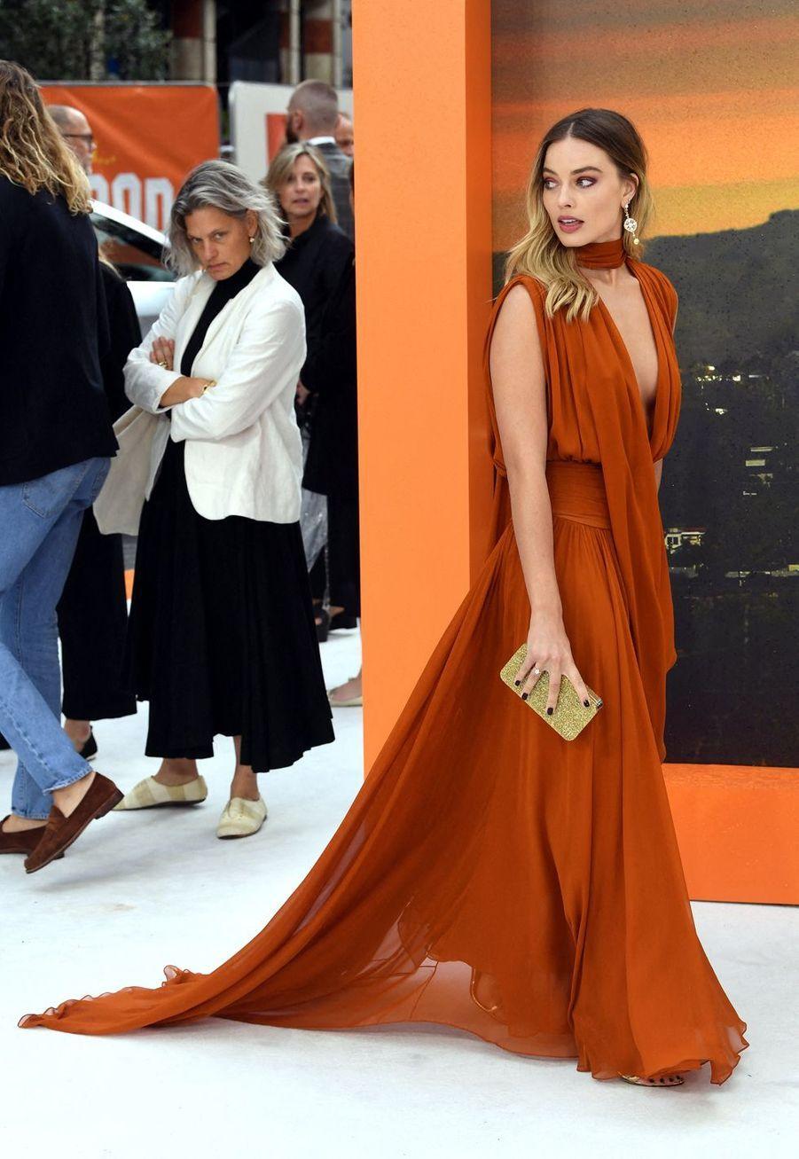 Margot Robbie à Londres, le 30 juillet 2019.