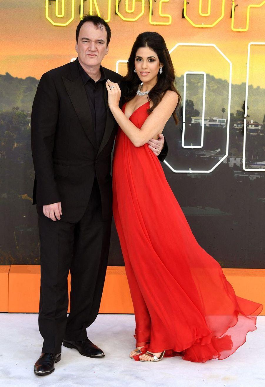 Quentin Tarantino et son épouse Daniella Pick à Londres, le 30 juillet 2019.