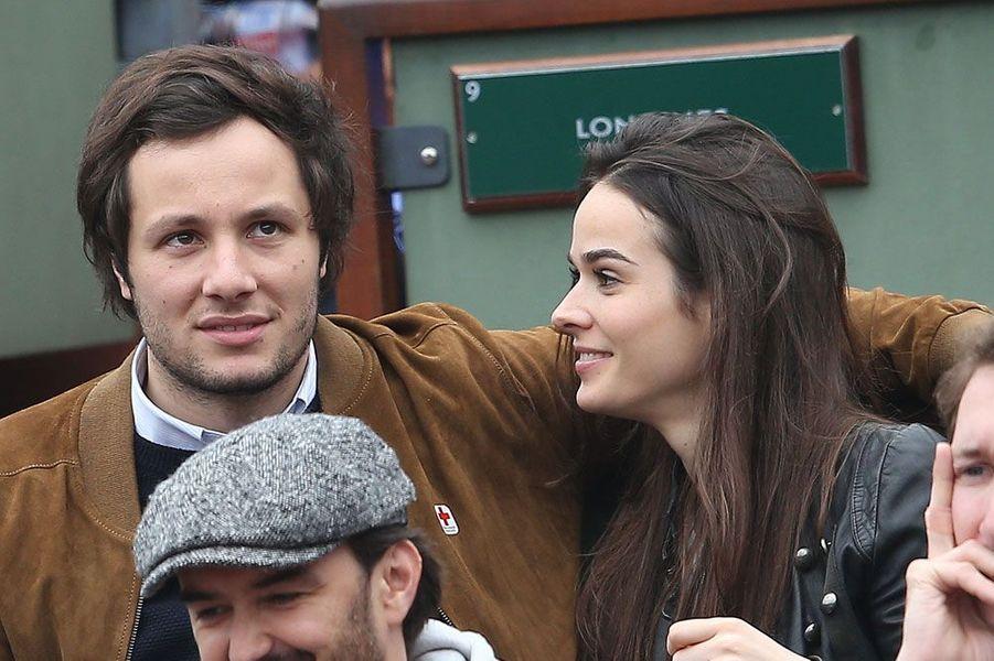 Vianney et sa compagne Catherine Robert à Roland Garros en 2016