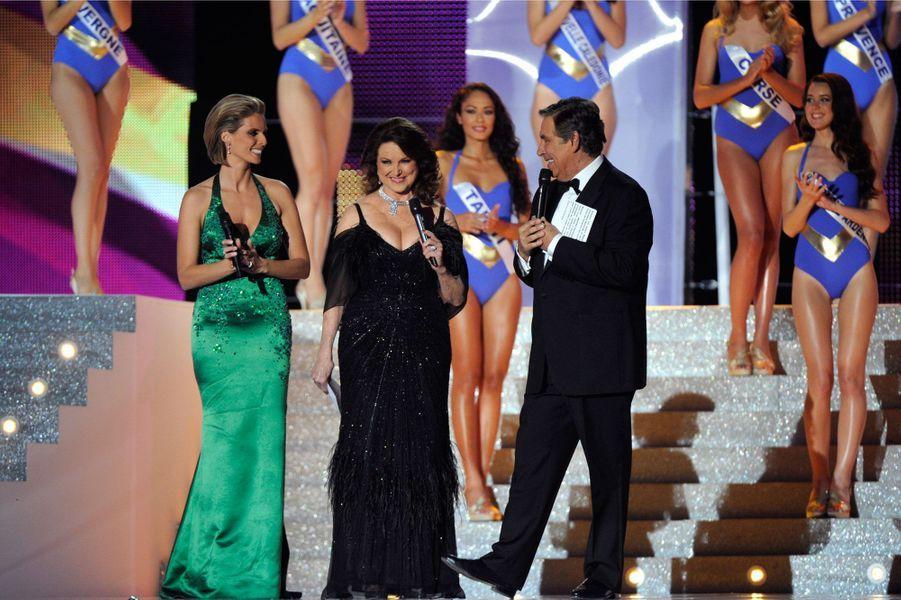 Christiane Martel lors de l'élection de Miss France 2012