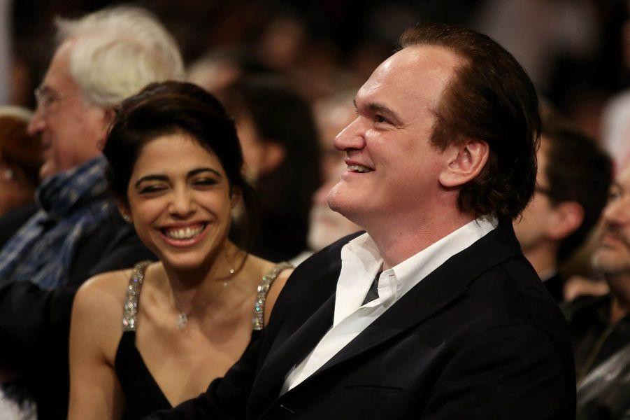 Quentin Tarantino et Daniella Pick au Festival Lumière à Lyon, octobre 2016.