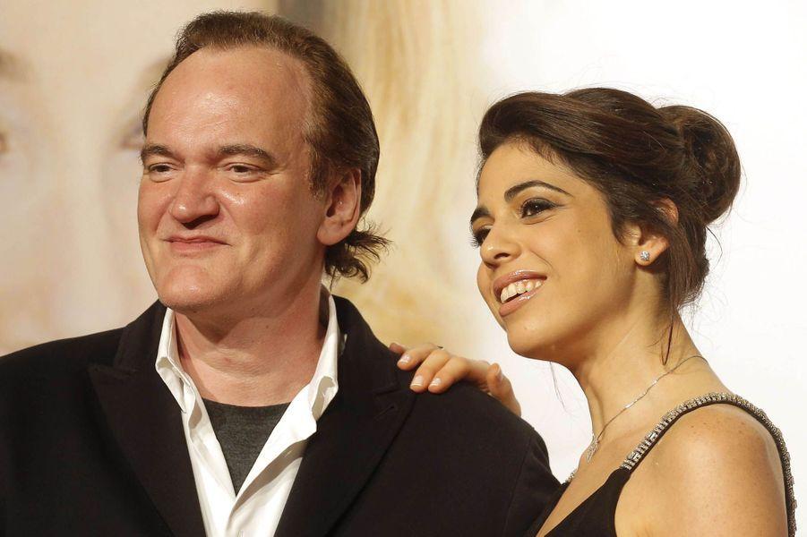 Quentin Tarantino et Daniella Pick au Festival Lumière de Lyon, le 8 octobre 2016.