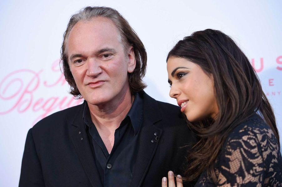 Quentin Tarantino et Daniella Pick lors d'une avant-première à Los Angeles, le 12 juin 2017.