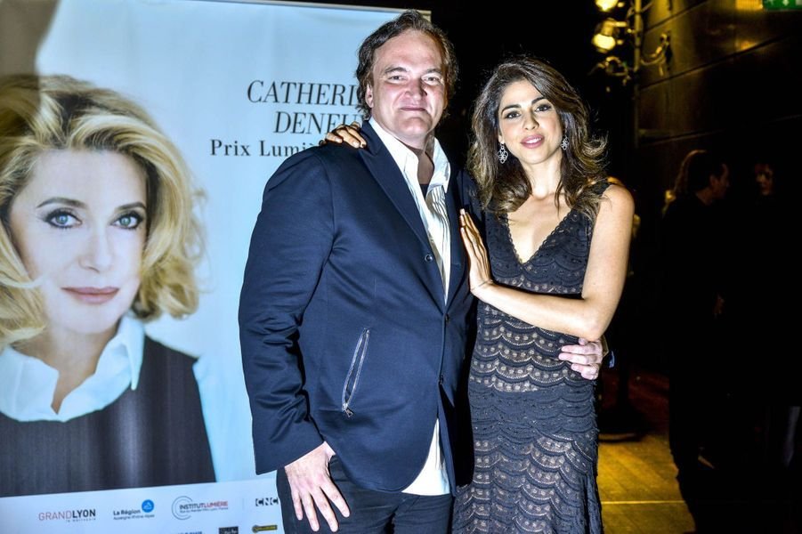Quentin Tarantino et Daniella Pick à Lyon, en 2016.