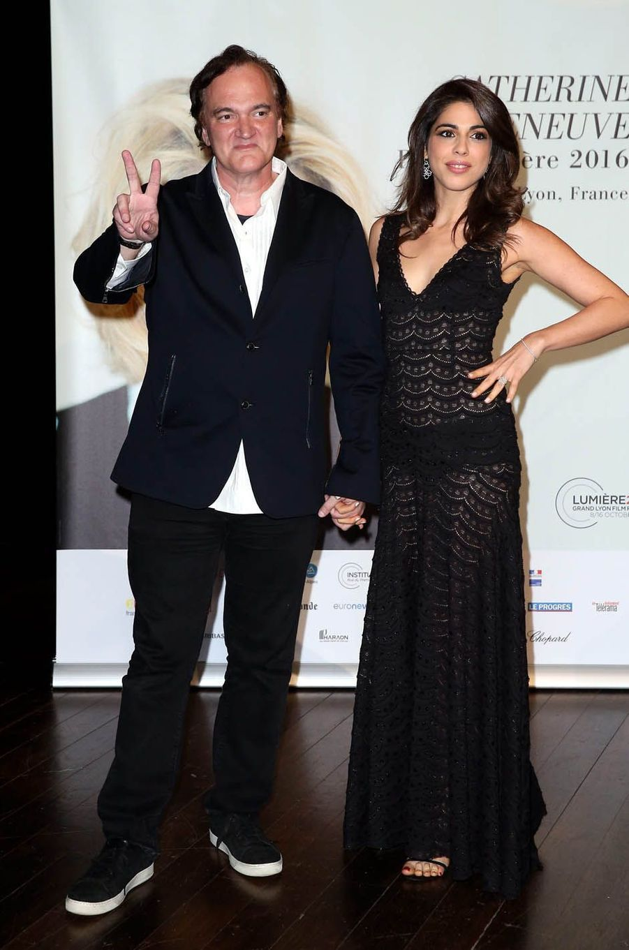 Quentin Tarantino et Daniella Pick à Lyon, octobre 2016.