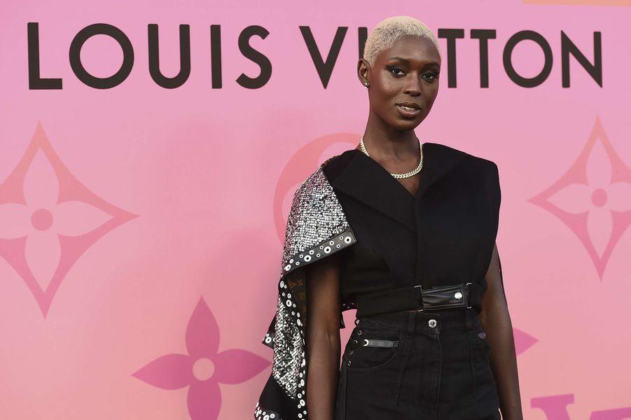 Jodie Turner-Smith à une présentation de la maison Louis Vuitton à Beverly Hills le 27 juin 2019