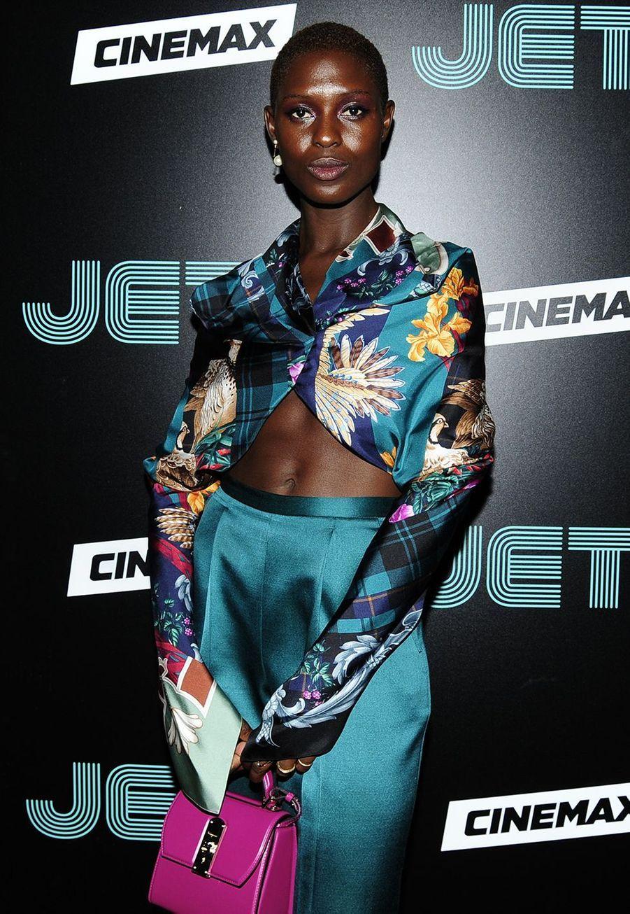 Jodie Turner-Smith à la première de la série «Jett» à New York le 11 juin 2019