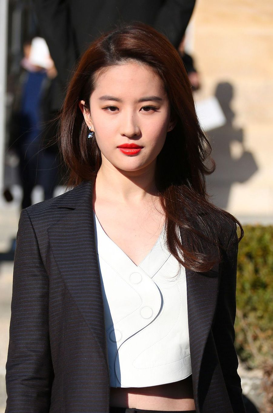 Liu Yifei à Paris, le 25 janvier 2016